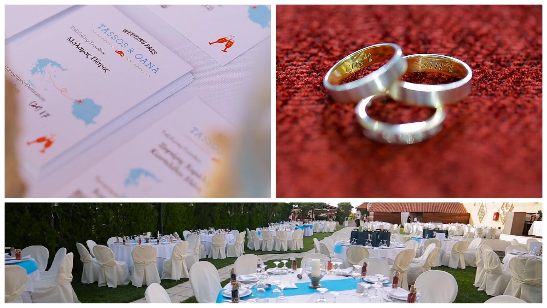 Esküvői meghívő és szabadtéri helyszín görög esküvőn
