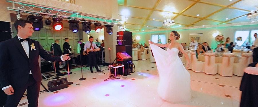 Filmare dansul mirilor la Restaurant DaVinci Cluj-Napoca in ziua nuntii
