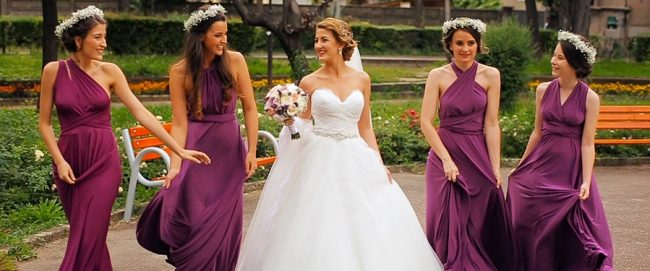 Szatmárnémeti esküvő, menyasszony és koszorúslányok