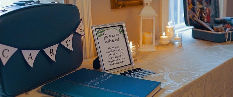Dekoráció amerikai esküvő recepcióján
